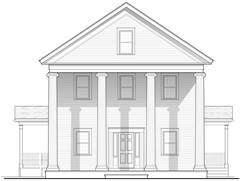 Odd Fellows Hall architect drawing
